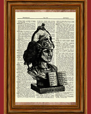 Bust of Pallas Raven Edgar Allan Poe Dictionary Art Print Picture Statue Athena