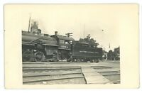RPPC NYC New York Central Railroad Locomotive Crossing 3634 Real Photo Postcard