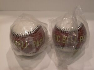 2x San Francisco Giants Pac Bell Park Brick Ball Souvenir Baseball