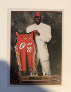 Lebron James 2003 #221 RC Rookie Cavaliers Lakers Mint RP Draft Pick #1