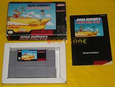 ROAD RUNNER'S DEATH VALLEY RALLY Super Nintendo Snes NTSC Americano ○○○ COMPLETO