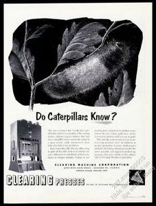1953 Wooly Bear caterpillar art CMC Clearing Press vintage print ad