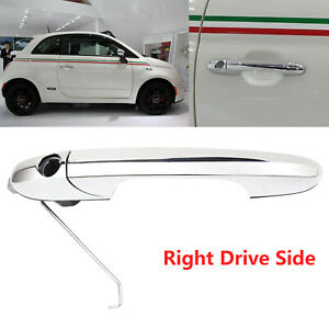 Fiat 500 Drivers Side Outer Door Handle - Chrome - Offside (os) #735592012