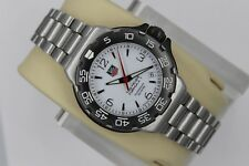 Tag Heuer 2000 WAC1211 White Professional Formula One Watch Mens Womens Midsize