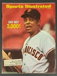 1970 JULY 27 SPORTS ILLUSTRATED MAGAZINE WILLIE MAYS MAGIC 3000 HIT MARK! CS5