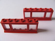 LEGO 645 @@ Window 1 x 6 x 2 (x2) Extended Lip, Glass 236 326 700