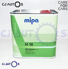 MIPA 2K ACRYLIC H10 FAST ACTIVATOR HARDENER 2.5 L Litre LACQUERS PAINT PRIMERS