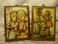 Vintage '70's Home Interior Homco Wood Childrens Picture Wall Plaques Decor  404