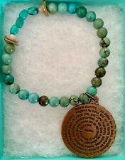 Spanish (Turquoise Beaded Bracelet) Bracelet Amen Our Father