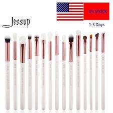US Jessup 15pcs Precision Eye Makeup Brush Set Blending Eyeliner Brow Shadow Kit