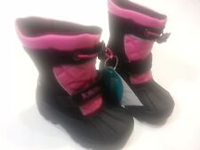 Girls snow boots Shoes casuals totes waterproof size 6 black pink free ship