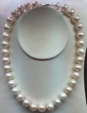 Beautiful 11-12mm Australian SOUTH SEA WHITE PEARL NECKLACE 18 inch