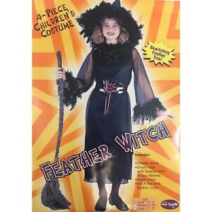 Girl's Fun World Feather Witch Halloween Costume Size Small 4-6