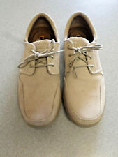 "Skechers ""Relaxed Fit"" tan suede, lightweight oxfords. Men's 11.5 (eur 45.5)"