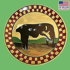 New listing Collector Plates Ceramic Brown Cow Dinner Plate Handpainted | Renovator's Supply