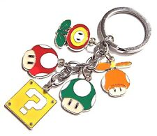 SUPER MARIO WORLD CHARM KEY RING chain mushroom block Bros Nintendo Odyssey 4G
