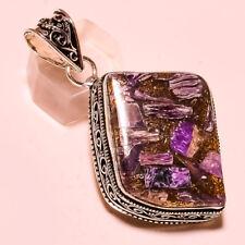 Copper Russian Charoite Handmade Jewelry Pendant S. 5.70 Cm SN-498