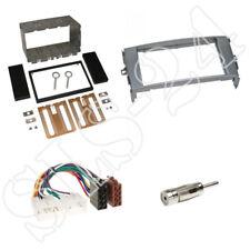 Toyota Auris E15J Doppel 2-DIN Radioblende grau Einbaurahmen + ISO Kabel Adapter