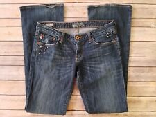 Big Star Sweet Low Boot Womens Boot Cut Jeans Rhinestone Tag Size 29 R