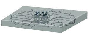 Eisengestell / Drahtkäfig für den SunTracker 2-achsig - 30m²