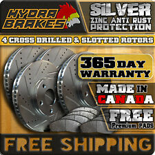 FITS 2013 2014 FORD FLEX HD DRILLED SLOTTED BRAKE ROTORS PADS F+R