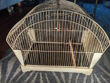 Art Deco, Rare Vintage Metal Bird Cage by Hendryx perch swing & 1 plastic panel