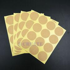 180 Round Kraft paper sticker - Circel Vintage Blank Hand Made sticker 35mm