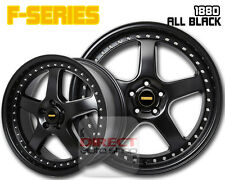 4x FR ALL BLACK 18 inch Alloy Wheel Mazda 3 Civic i30 Lancer Camry Accord Cerato