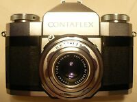 VINTAGE ZEISS IKON CONTAFLEX 35MM CAMERA & LEATHER CASE