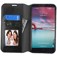 BLACK CARD WALLET LEATHER ACCESSORY COVER CASE FOR ZTE Grand X Max 2 /