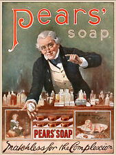 Vintage  Advertising poster  A4 Photo RE PRINT  Pears Soap (12)