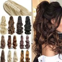 Any Shades Claw Clip on Ponytail Real Thick Pony Tail Clip in Hair Extensions