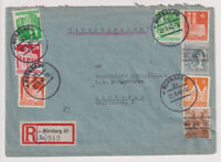 Bizone/Bauten, Mi. 77/78 u.a.,MiF 40I u.a., R-Nürnberg 20,  22.9.48