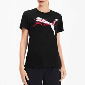 Puma Women's x Karl Lagerfeld Tee Black Graphic Active Wear T-Shirt 595565-01