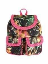 CAMOUFLAGE & PINK  BACKPACK  CAMO PURSE, SCHOOL, TRAVEL