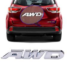 Silber AWD Aufkleber Zink Alloy Metall Emblem AWD Für Auto Mercedes Honda Ford