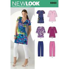 NEW LOOK SEWING PATTERN Misses' tunic in two lengths & cropped pants 10-22 6983