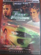 THE FAST AND THE FURIOUS FROM DIRECTOR ROB COHEN DVD PAUL WALKER USED
