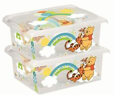 2 x Coffre à jouets coffre à jouets boîte Fashion-Box DISNEY WINNIE OURSON 10 L