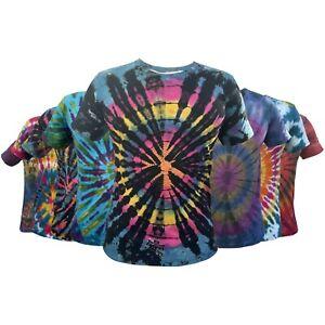 Tie Dye hippie womens mens bohemian hippy clothing  vintage sleeve groovy Tshirt