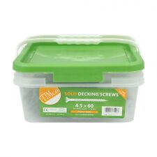 4.5 x 60mm GREEN SOLO DECKING SCREWS - BOX OF 1,000 + 2 FREE DRIVER BITS