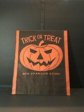 Vintage 50s-60s Halloween Ben Franklin Store 20� trick or treat paper bag Jol