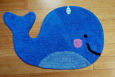 Blue Whale Rug - Cotton - Children's Room / Nursery / Living Room Mat