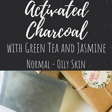 Handmade Activated Charcoal Soap Bar With Green Tea And Jasmine