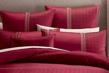 """New """"Athens"""" Burgundy Red, Brown & Beige Jacquard Filled Breakfast Cushion"""