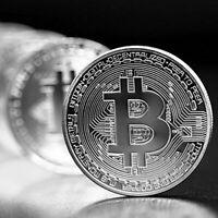 10 Pcs Original Silver Bitcoin Commemorative Round Collectors Coin Silver Plated