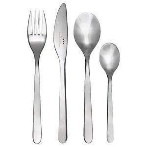 New IKEA FÖRNUFT (Fornuft) 24 Pieces Stainless Steel Cutlery Set Kitchen Set UK