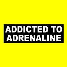 """""""ADDICTED TO ADRENALINE"""" skydiving motorcycle STICKER decal Bungee jumping biker"""