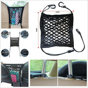 Car Seat Thick 2 Layers Storage Organizer Cargo Mesh Elastic Net Isolated Pets