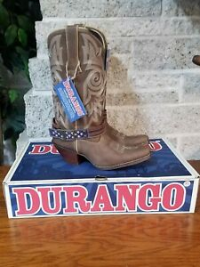 NEW CRUSH BY DURANGO DRD0208 WOMENS FLAG ACCESSORY WESTERN COWBOY BOOTS US 7.5